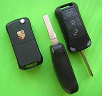 Porsche - корпус выкидного ключа 3 кнопки, HU66