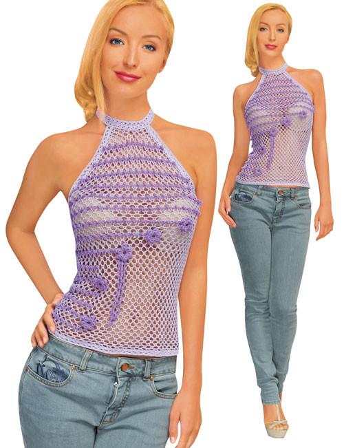 Топ фіолетовий з надвязками