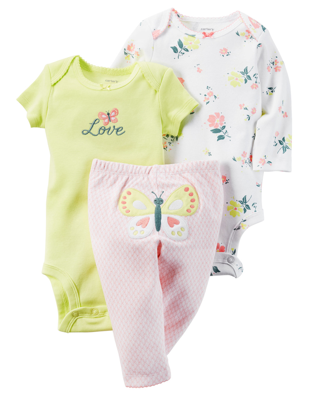 2 Боди + Штаны Carters на новорожденного до 55 см. Набор из 3-х частей