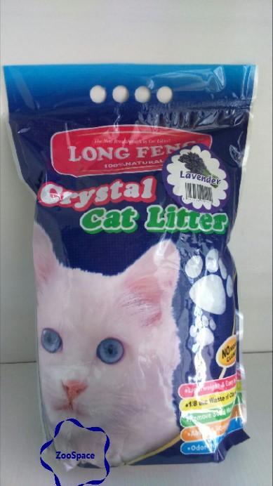 Селікагелевий наповнювач для туалету LONG FENG Crystal Cat Litters 5l (із запахом лаванди)