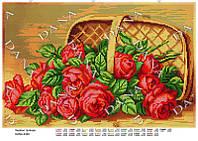 """Схема для вышивания бисером  """"Красные розы"""""""
