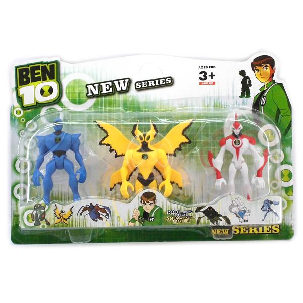 Ben ten Бен Тен 3 светящиеся фигурки BEN10 5 серии - Крылатый+Супер большой+Молния