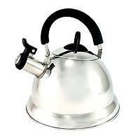"""Чайник из нержавеющей стали 3л для кипячения воды со свистком Fissman """"Arman"""" (KT-5924.3.0)"""