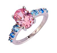 """Кольцо Swarovski """"Розово-голубая мечта"""", фото 1"""