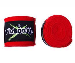 Бинты боксерские эластичные Woldorf Красные 3м