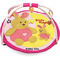 Коврик Baby Mix TK/3168C Кролики pink