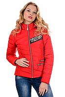 Женская демисезонная куртка 01.171 красный, 42-48 размер