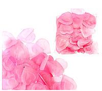 Лепестки роз в форме сердца, нежно-розовые 40 штук