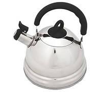 """Чайник из нержавеющей стали 2.5л для кипячения воды со свистком Fissman """"Demdeu"""" (KT-5925.2.5)"""