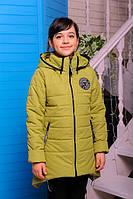 "Демисезонная куртка для девочки ""Мила"" (олива)"