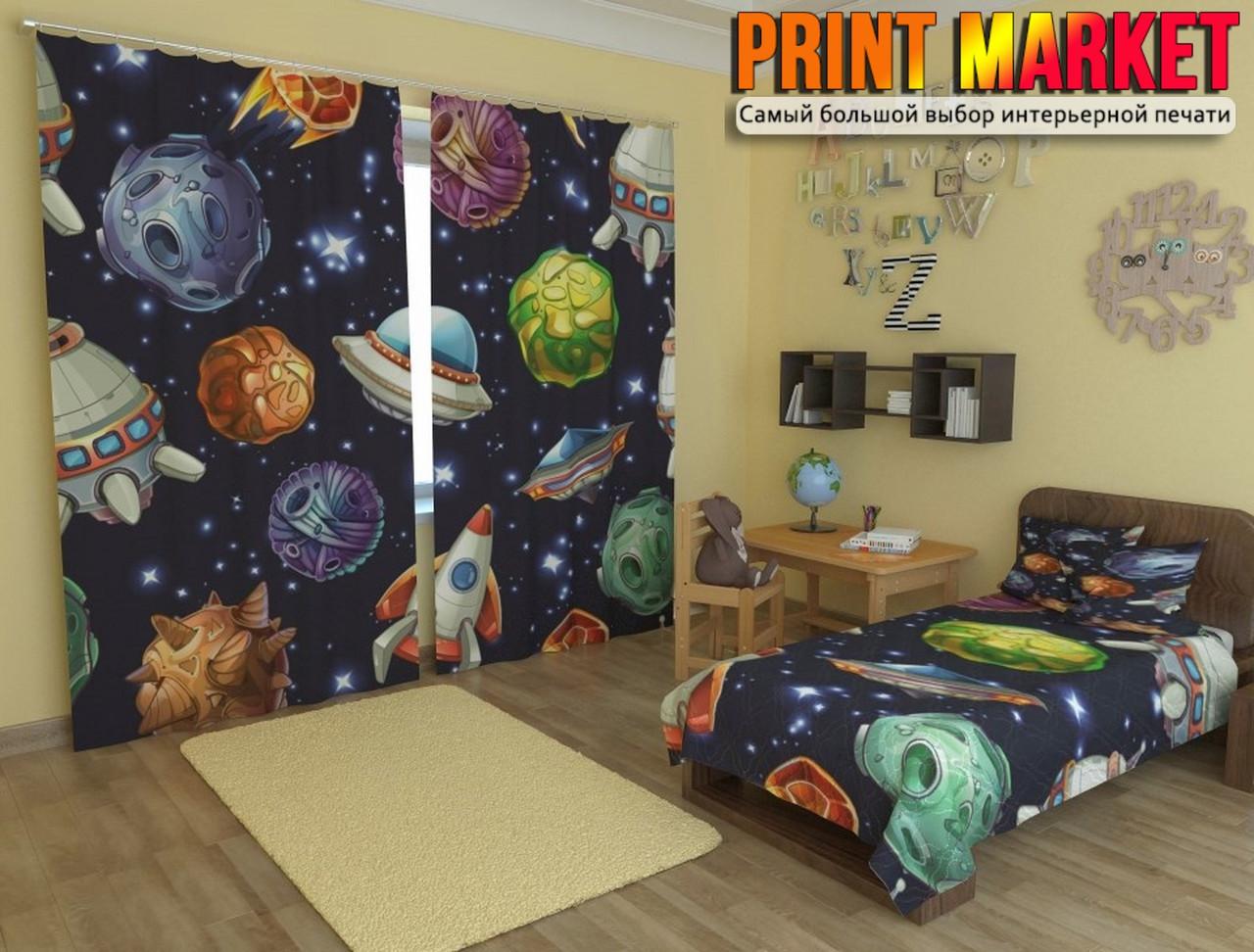 Фотошторы в детскую космос