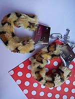 Наручники для любимых леопардовой расцветки