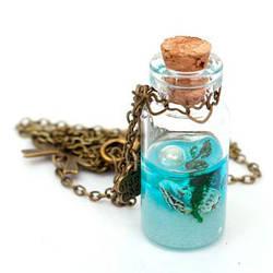 Декоративные стеклянные бутылочки для украшений с пробкой
