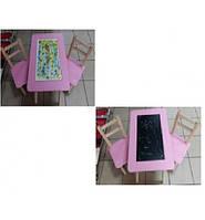 Столик с настольной игрой и доской для рисования   арт. 060