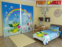Фотошторы в детскую радуга
