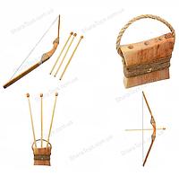 Деревянный лук со стрелами