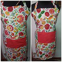 Фартук  кухонный Vikamade женский вафельная модель с карманам., фото 1