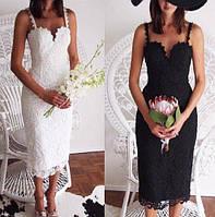 Кружевные платья HERVE LEGER (белое,черное)