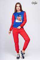 Красный теплый спортивный костюм Орфей