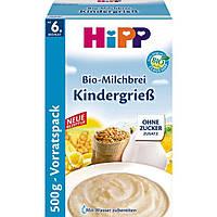 HiPP Bio-Milchbrei Kindergrieß -  Молочная манная каша, с 6 месяца, 500 г