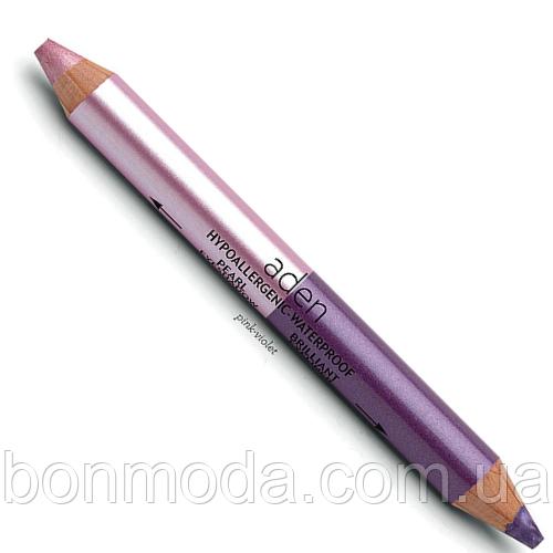 """Тени-Карандаш для глаз Розовый + Фиолетовый Aden Eyeshadow """"Pink- Violet"""" № 06"""