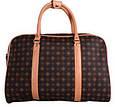 Дорожная сумочка 4226 коричневая, 20 л, фото 4