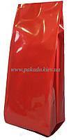 Пакет с центральным швом 100г КРАСНЫЙ глянец 65х200 ф.20+20