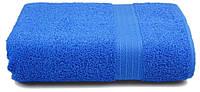 Полотенце махровое с бордюром 70х140 тёмно-синее 400 г/м²