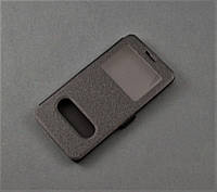 Чехол книжка для Lenovo K3 A6000 A6010 A6010 pro серый 2 окошка
