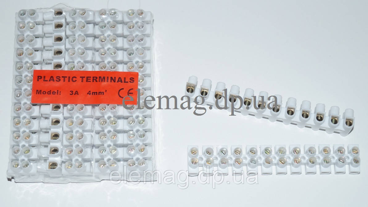 Зажим контактный винтовой ЗВИ 3А 4 мм²