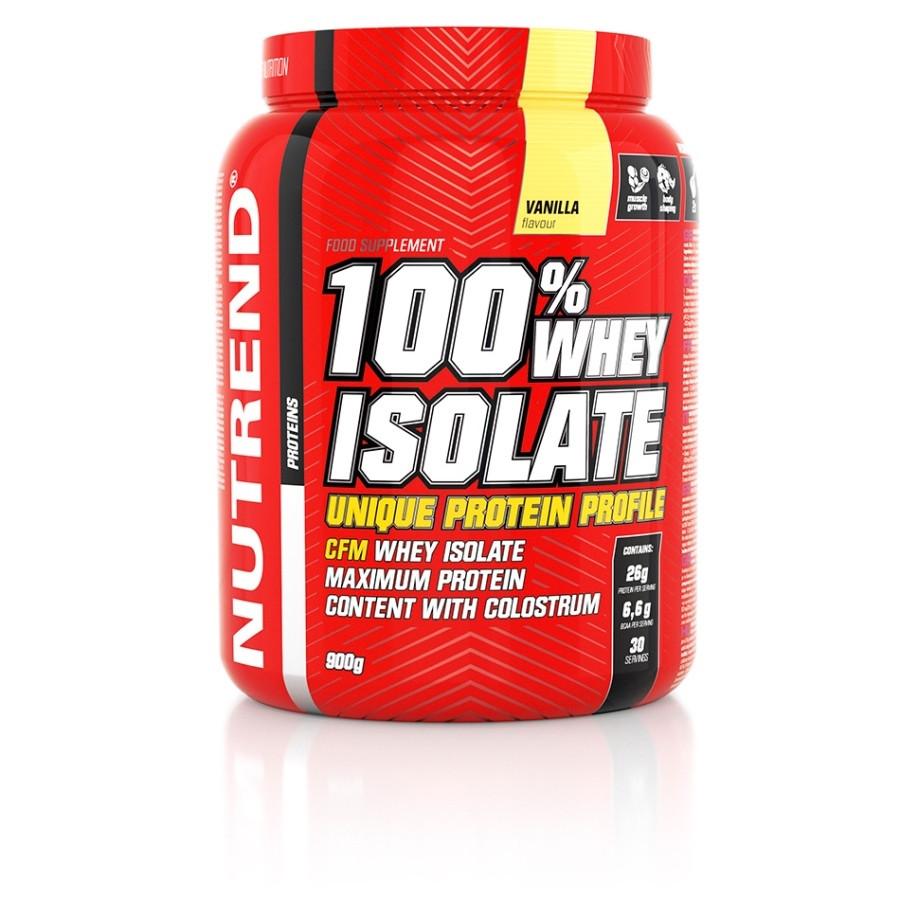 Nutrend 100% Whey Isolate (900г), клубника