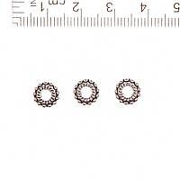 Фурнитура Вставка Кольцо декор: жгутик и шарики  d-3mm