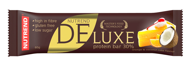 Nutrend Deluxe protein bar (60г), клубниный чизкейк