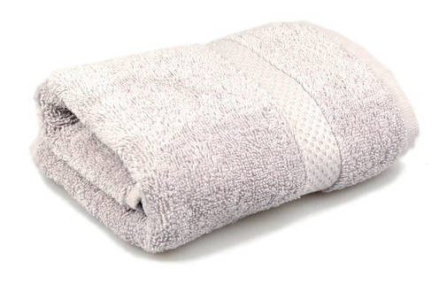 Полотенце махровое Soft touch 40х70 серое 400 г/м², фото 2