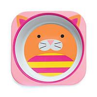 Детская глубокая меламиновая тарелочка Skip Hop Cat с котом