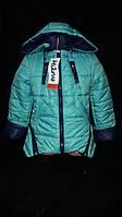 Зеленая куртка на синтепоне, демисезонная, рост 122,146 см., 550/480 (цена за 1 шт. + 70 гр.)