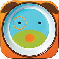 Детская глубокая меламиновая тарелочка Skip Hop Dog с собакой