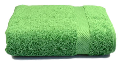 Полотенце махровое с бордюром 70х140 зелёное 500 г/м², фото 2