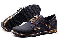 Мужские кожаные туфли кроссовки  Columbia коламбия  черные 40, 41, 42, 43, 44, 45