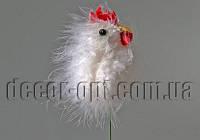 Петушок белый  6 см на спице TFB21879B