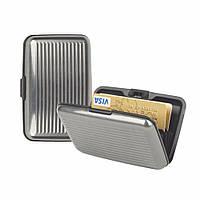 Кошелек-кредитница Aluma Wallet silver (серебристый)