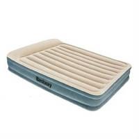 Велюровая двухспальная кровать BW 67534 с подголовником и встроенным насосом 220V