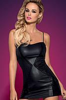 Сексуальный комплект Obsessive Stingy dress S/M, L/XL черный цвет платье и трусики в комплекте