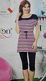 Комплект трикотажный женский  туника+капри SEXEN