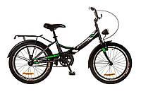 """Велосипед 20"""" Formula Smart 14G с фонарём черно-зеленый 2017"""