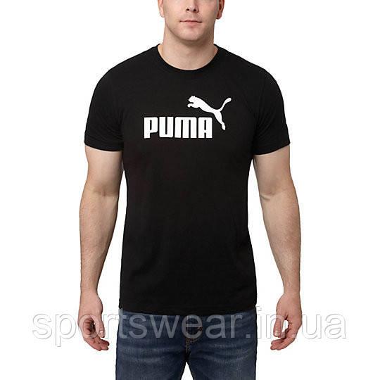 """Футболка  черная  Puma Classic мужская """""""" В стиле Puma """""""""""