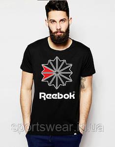 """Футболка  черная  мужская  Рибок  Reebok """""""" В стиле Reebok """""""""""