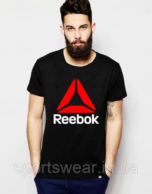 "Футболка  черная  мужская  Reebok  """" В стиле Reebok """""