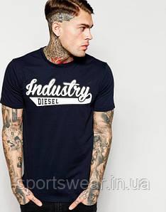 "Мужская Футболка черная  Diesel Industry  """" В стиле Diesel """""