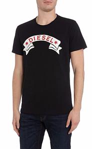 """Мужская Футболка черная Diesel Star Banner """""""" В стиле Diesel """""""""""